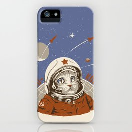 Soviet Space Cat iPhone Case