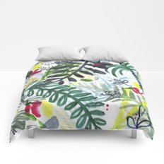 green forest Comforters
