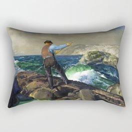 "George Wesley Bellows ""The Fisherman"" Rectangular Pillow"