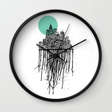 City Drips Wall Clock