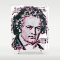 beethoven Shower Curtains featuring Beethoven by Zandonai