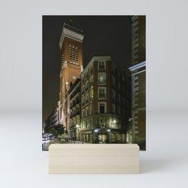 Madrid Hotel at Night Mini Art Print