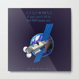 Satellite NSA Metal Print