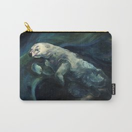 Polar Bear Swimming in Northern Lights Carry-All Pouch