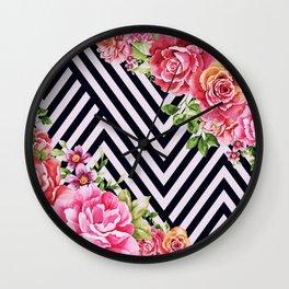 flowers geometric Wall Clock