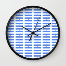 flag of nicaragua 2 - Nicaraguans,Nicaragüense,Managua,Matagalpa,latine. Wall Clock