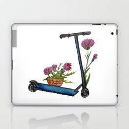 Push Scooter & Flowers Laptop & iPad Skin