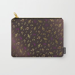 golden music in dark metal background Carry-All Pouch