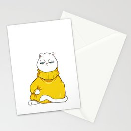itchy sweater Stationery Cards