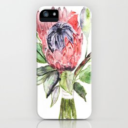 Protea illustration iPhone Case