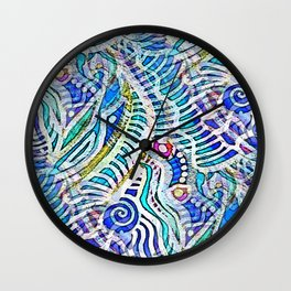 Under the Sea Abstract Nautilus  Wall Clock