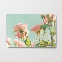 Mint Palermo Roses Metal Print