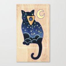 Ouija Cat Canvas Print