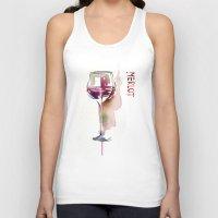 wine Tank Tops featuring Wine by tatiana-teni