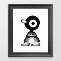 Big nose Framed Art Print