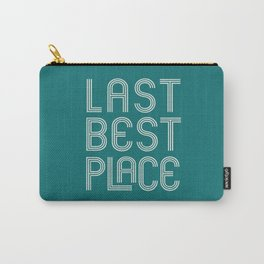 Last Best Place - Retro Montana in Jade Carry-All Pouch