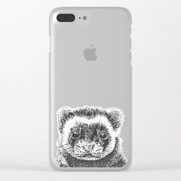 All Is Ferret In Love and War Clear iPhone Case