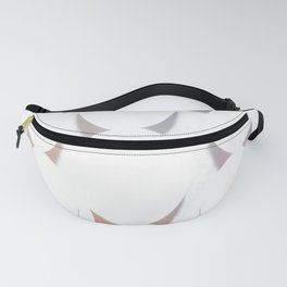 White Circles Fanny Pack