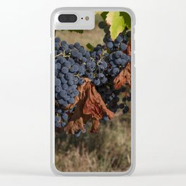 Vineyard Grape Clusters Clear iPhone Case