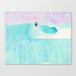 SURF AERIAL no. 1   WATER COLOR Canvas Print