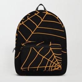 Spider Web - Halloween Orange and black Backpack