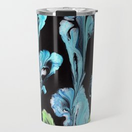 Blue Iris Flowers Travel Mug