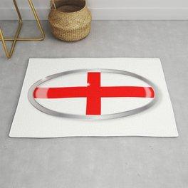 England and Saint George Oval Button Rug
