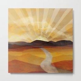 Desert in the Golden Sun Glow II Metal Print