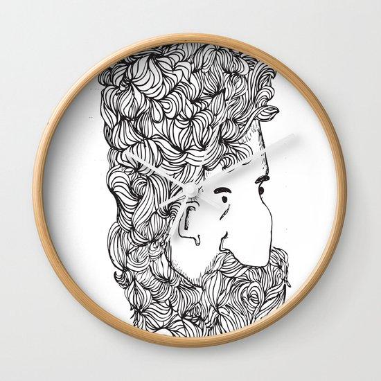 Bearded Man Wall Clock