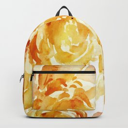 Sunny Day Painterly Floral Abstract Backpack