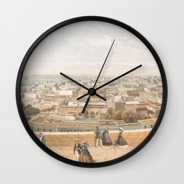 Vintage Pictorial Map of San Juan PR (1860) Wall Clock