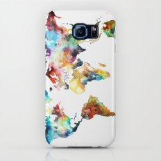 World map Slim Case Galaxy S6