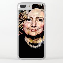 HILLARY CLINTON OFFICIAL PORTRAIT Clear iPhone Case