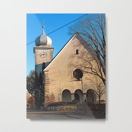 The village church of Klaffer | architectural photography Metal Print