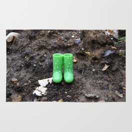 Wellies in the dirt Rug