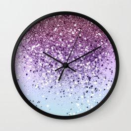 Unicorn Girls Glitter #6 (2019 Version - Faux Glitter) #shiny #pastel #decor #art #society6 Wall Clock