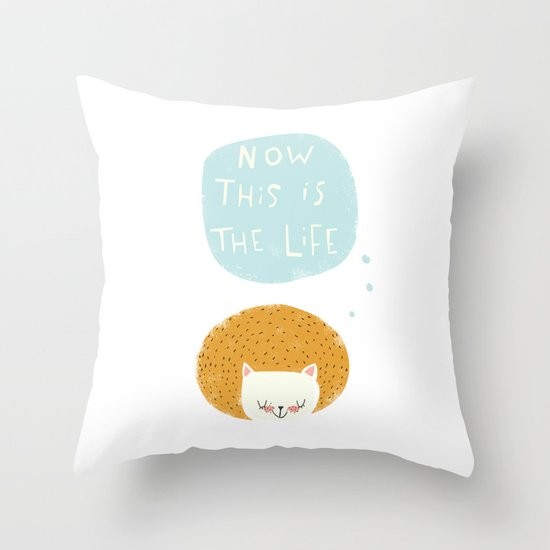 now this is the life Throw Pillow