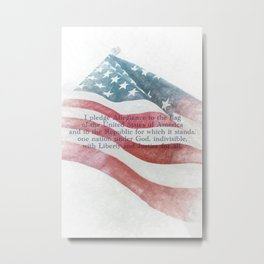 American Flag Textured 2 #pledgeofallegiance Metal Print