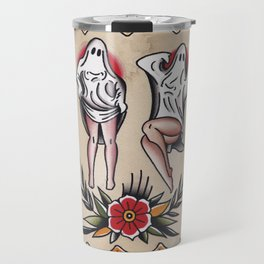 ghost pin up Travel Mug