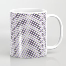 Small Purple Boxes and Green Lines Coffee Mug