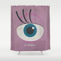 monster inc Shower Curtains featuring Monster, Inc. - Pink (Vintage) by Lemontrend Studio