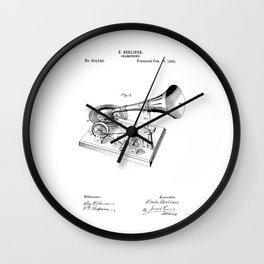 patent art Berliner Gramophone 1895 Wall Clock