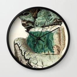 Vintage Mineralogy Illustration Wall Clock