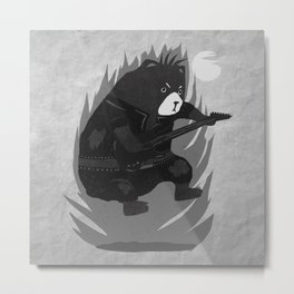 Bad Bear Bass Metal Print