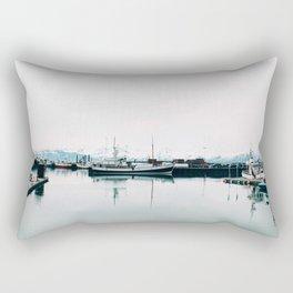 Docked in Port Rectangular Pillow