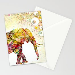 """Forever Young"" Elephant Mother & Baby Stationery Cards"
