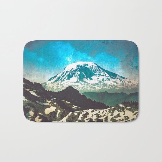 Mt Adams from Mt Rainier Washington State Bath Mat