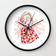 RED SHIRT Wall Clock