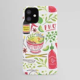 Vietnamese Pho Soup Sriracha iPhone Case