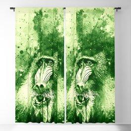 baboon monkey wsgr Blackout Curtain